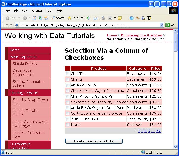 vb のチェック ボックスの gridview 列を追加する microsoft docs