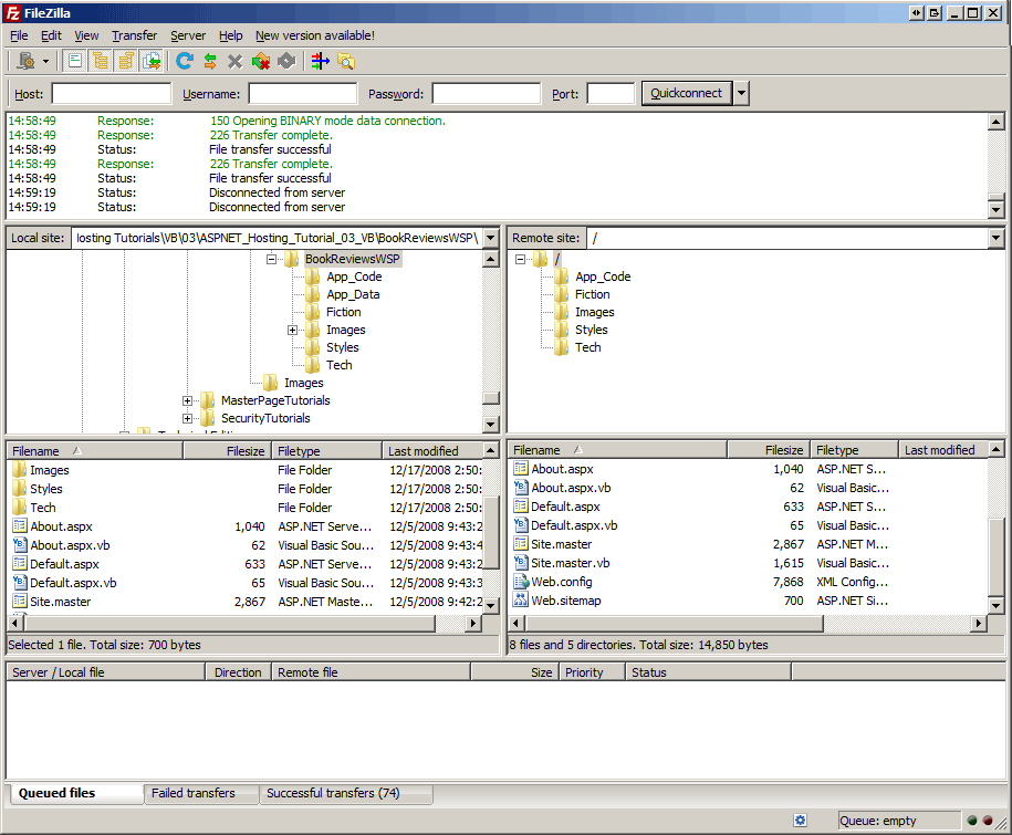 ftp クライアント vb を使用して サイトの展開 microsoft docs