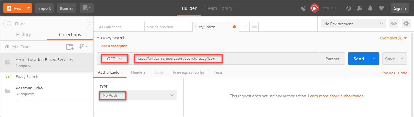 Azure Maps Search Service を使用して場所を検索するSearch for a location using Azure Maps Search services