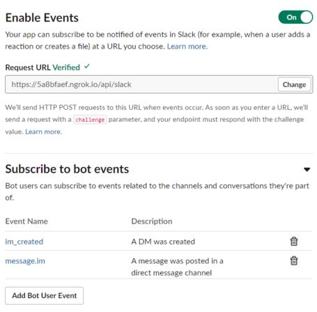 ボットを Slack に接続する - Bot Service   Microsoft Docs
