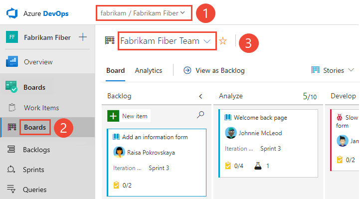 Screenshot of Open your Kanban board, cloud version.