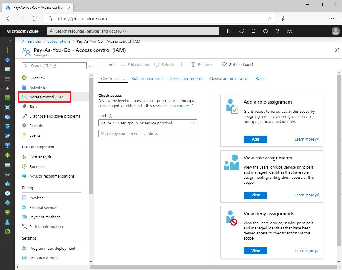 Azure portal を使用して Azure ロールの割り当てを追加または削除する ...