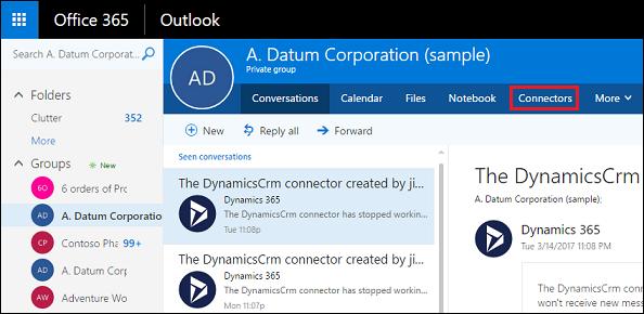 dynamics 365 customer engagementとoffice 365グループの展開