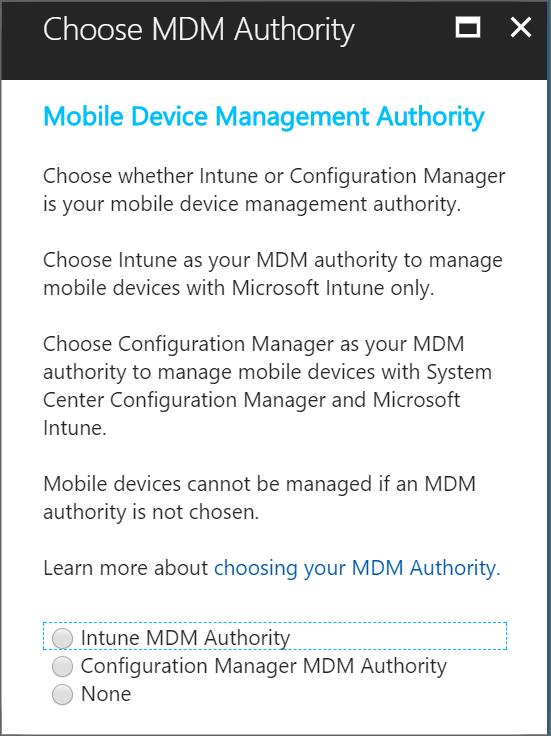 モバイル デバイス管理機関の設定 microsoft docs
