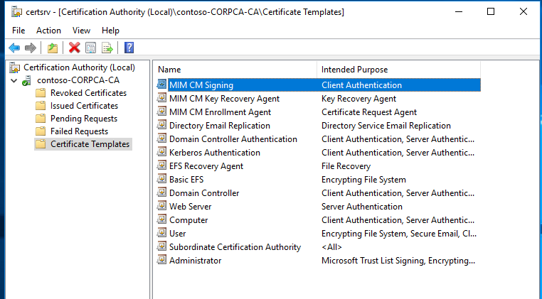 Microsoft identity manager certificate manager microsoft docs mim cm yelopaper Image collections