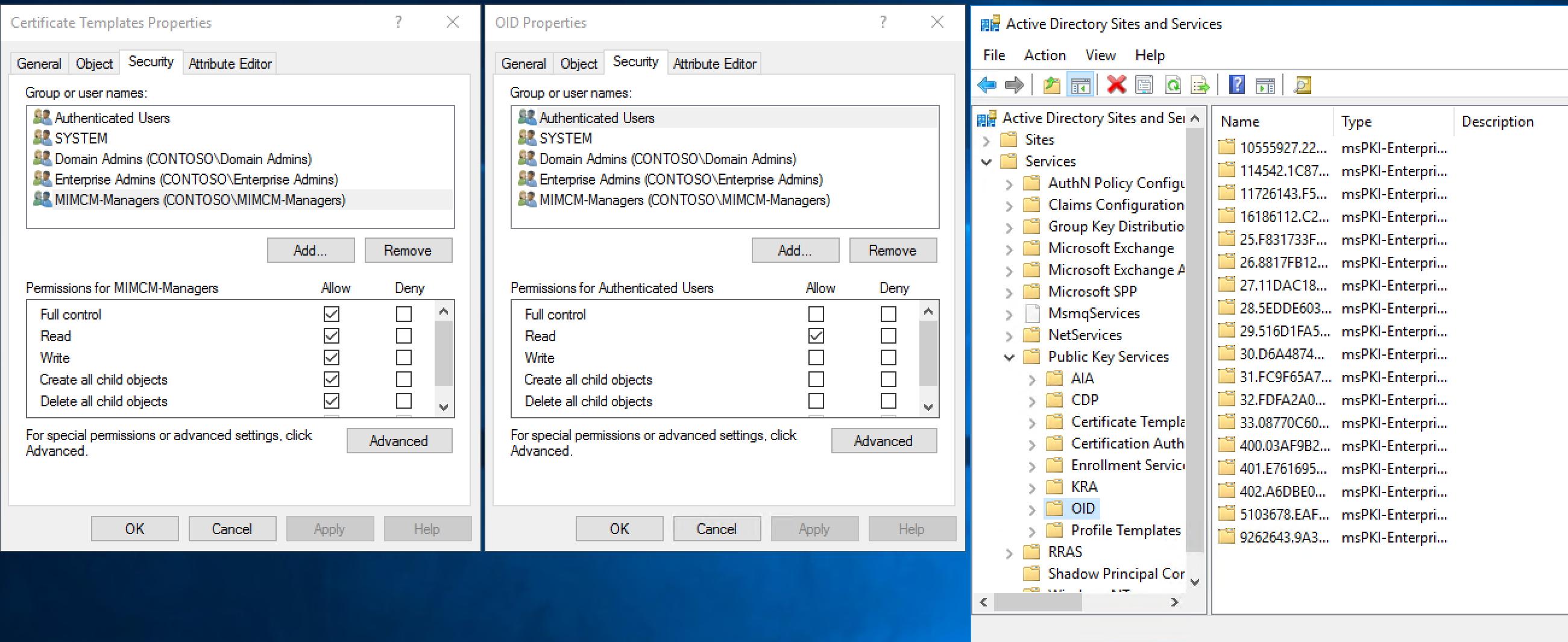 Microsoft identity manager certificate manager microsoft docs ct adcncertificate templatescnpublic key servicescnservicescnconfigurationdccontosodccom pt adcnprofile templates yelopaper Gallery