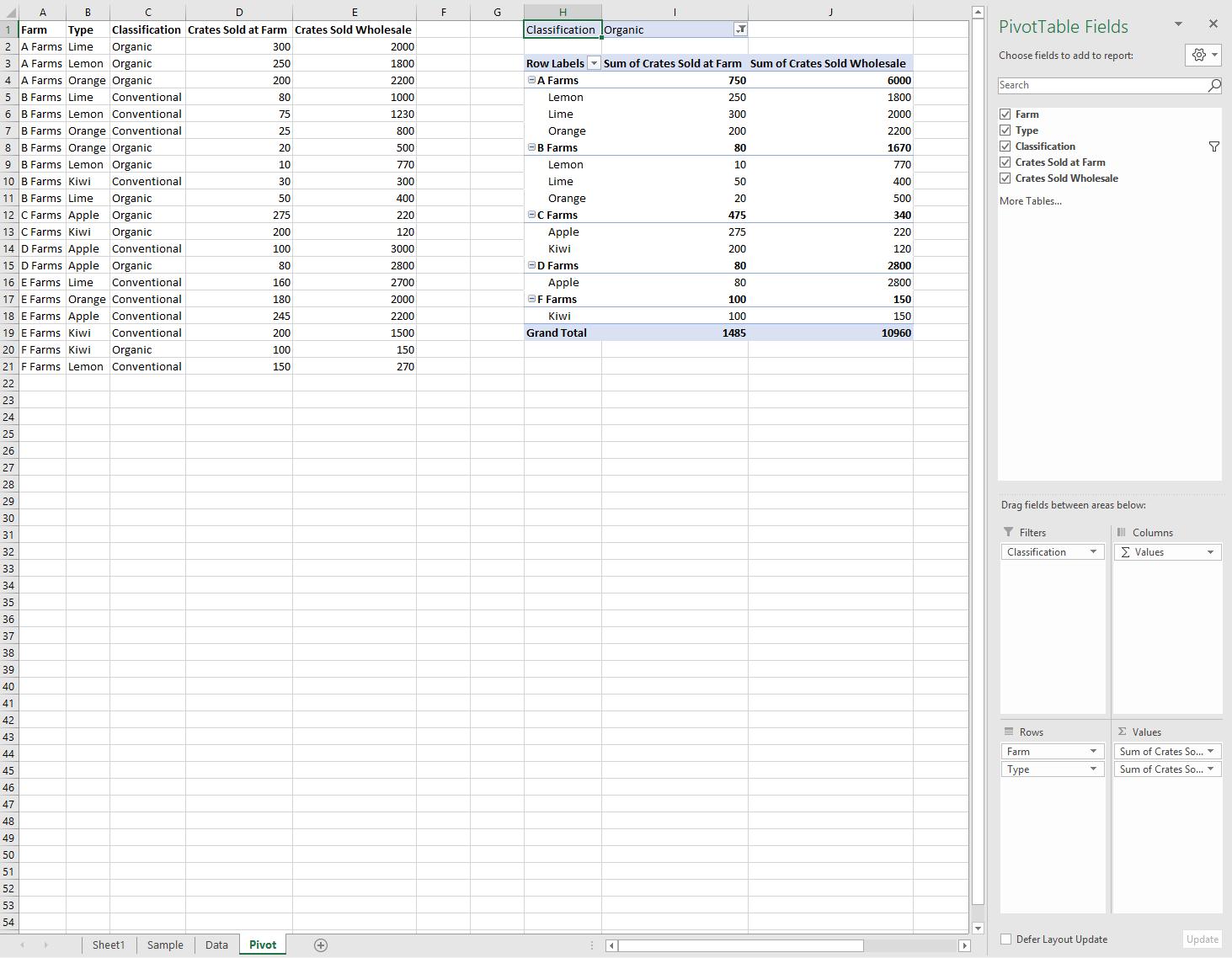 excel javascript api を使用してピボット テーブルで作業する