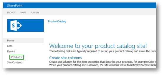 sharepoint サーバーで製品カタログのサイト コレクションにインポート