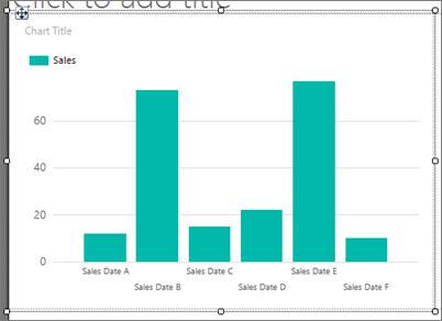 チュートリアル レポートへの縦棒グラフの追加 レポート ビルダー