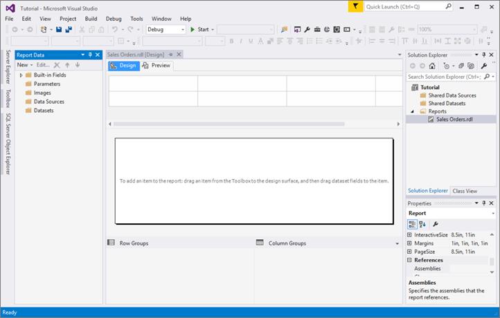 レッスン 1 レポート サーバー プロジェクトの作成 reporting services