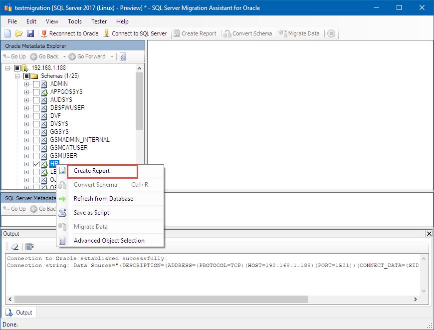 linux 上の sql server への oracle hr スキーマの移行 microsoft docs
