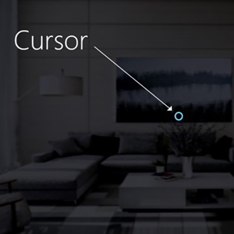 An example visual cursor to show gaze