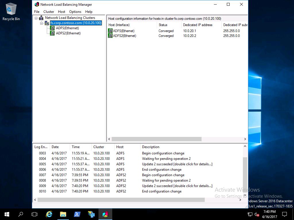 Windows Server 2016 の Active Directory フェデレーション サービス ...