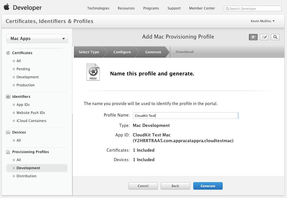 xamarin mac アプリのプロビジョニング プロファイル xamarin