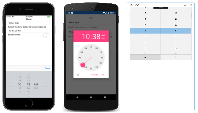 timepicker-open Xamarin Forms Picker Example on form map location, forms samples date time, form map, frorms calender date,
