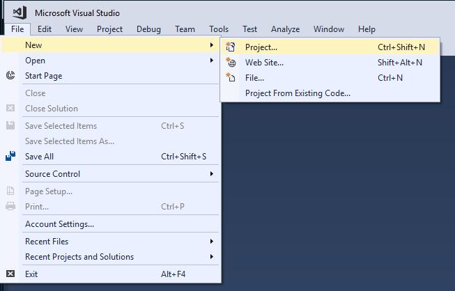 파일 > 새로 만들기 > 프로젝트