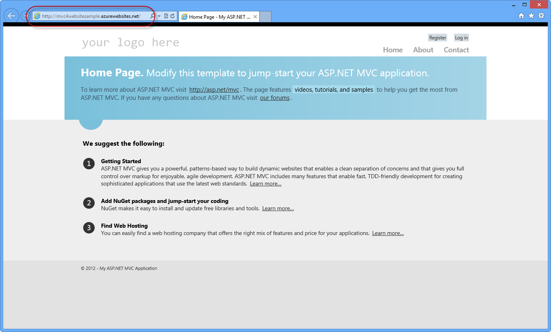 Windows Azure에 게시 된 응용 프로그램