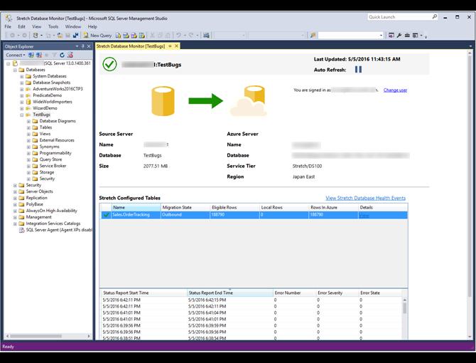데이터 마이그레이션 모니터링 및 문제 해결(Stretch Database) | Microsoft Docs