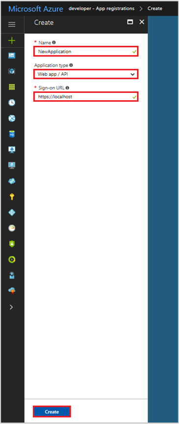 register an app with the azure active directory v1 0 endpoint