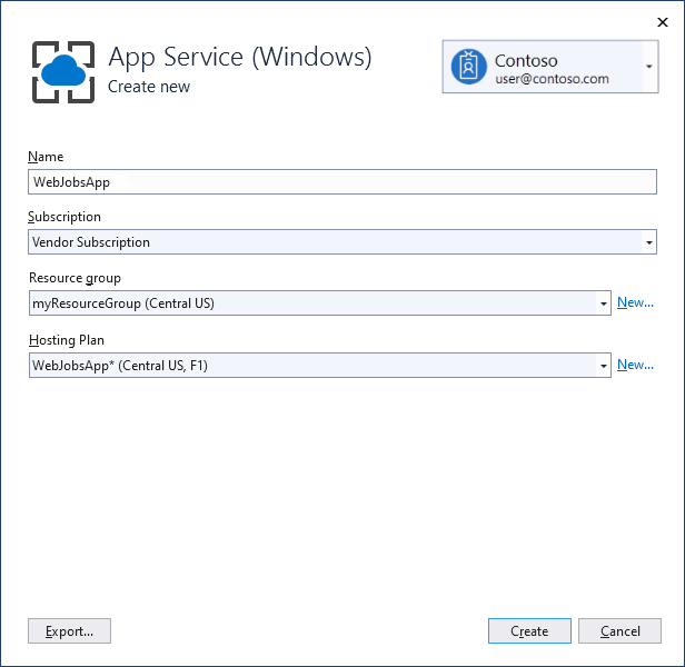 Develop and deploy WebJobs using Visual Studio - Azure