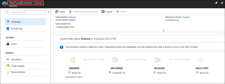 303be82b Azure Data Box Disk portal admin guide | Microsoft Docs