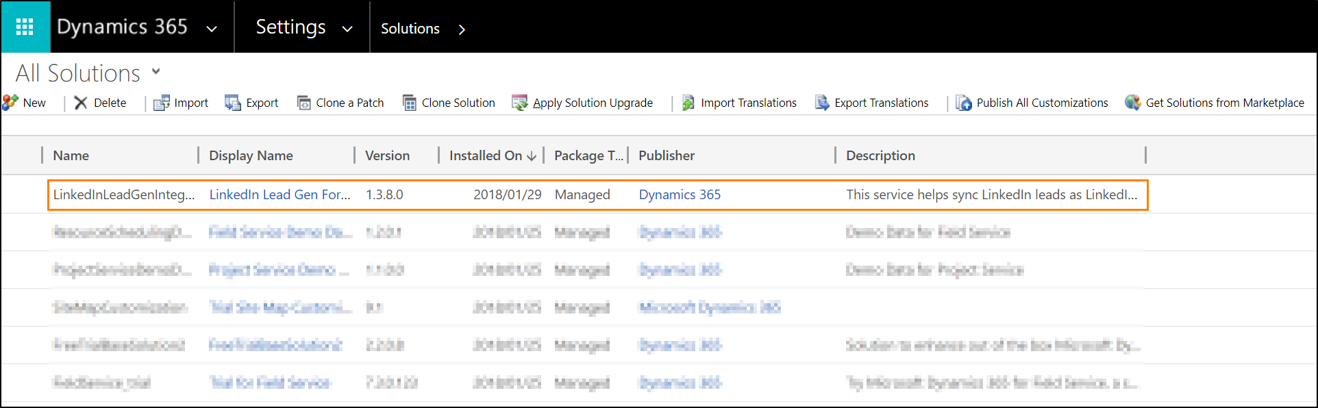 Installere Dynamics 365 for Customer Engagement Connector