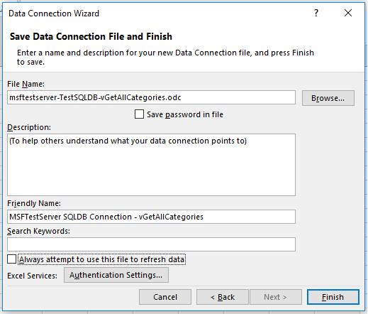 Excel Verbinden Met één Data Base In Azure Sql Database