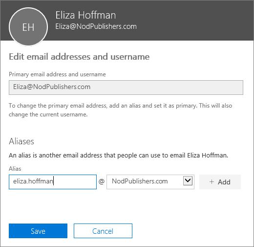 d93468b881143e Een ander e-mailalias toevoegen voor een gebruiker | Microsoft Docs