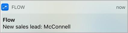 Voorbeeld van een e-mailmelding of pushmelding