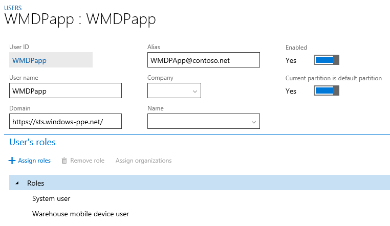 Warehouse mobile devices portal wmdp for finance and operations create a new user for the wmdp ccuart Gallery