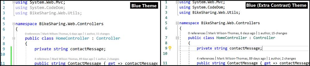 Informacje o wersji 153 programu visual studio 2017 microsoft docs blue extra contrast theme ccuart Gallery