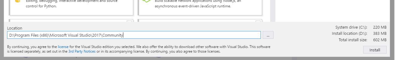Informacje o wersji 153 programu visual studio 2017 microsoft docs drive sizes listed in the installer ccuart Images