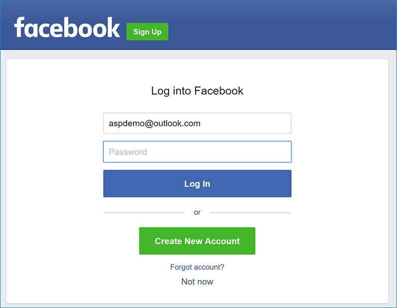 Configurao de logon externo do facebook no asp core pgina de autenticao do facebook stopboris Image collections