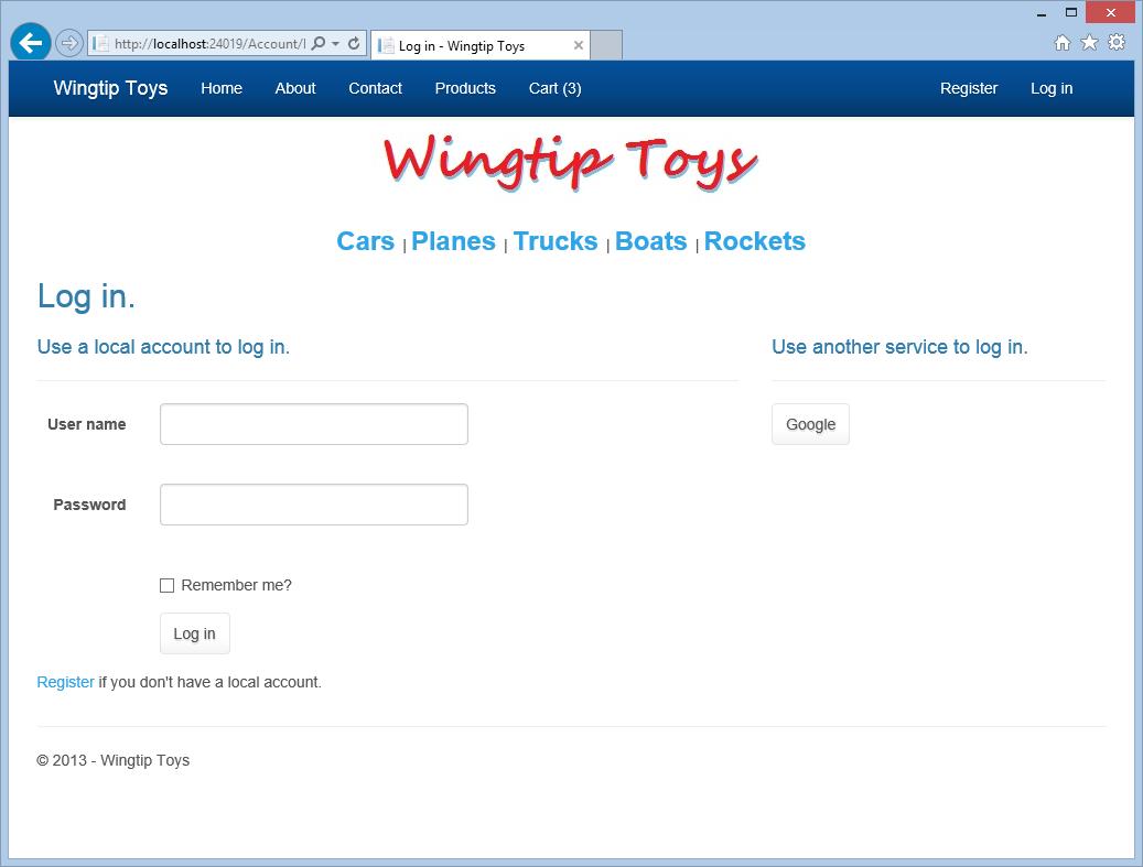 Introduo ao asp 45 do web forms e visual studio 2013 a wingtip toys faa logon no fandeluxe Gallery