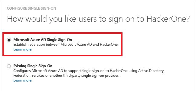 ... Integração do Azure Active Directory ao HackerOne | Microsoft Docs