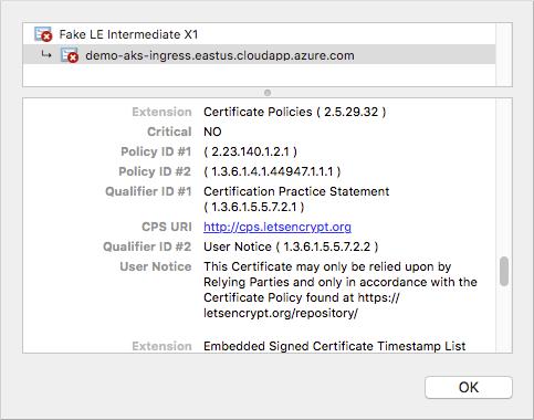 Criar uma entrada HTTPS com o cluster do AKS (Serviço de