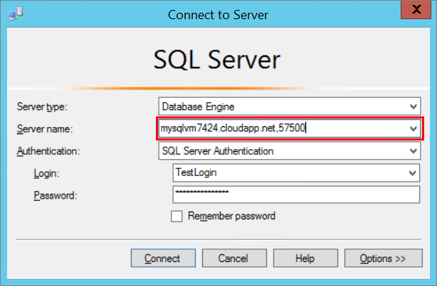Conectar se a uma m quina virtual do sql server no azure - Porta sql server ...