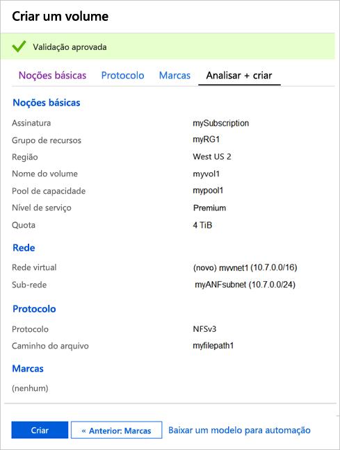 Início Rápido - Configurar o Azure NetApp Files e criar um