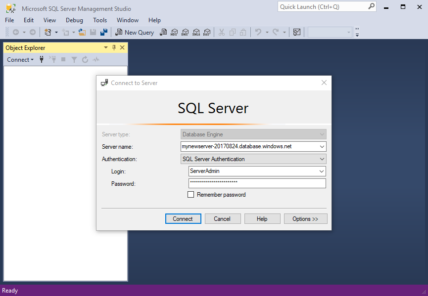 how to connect visual studio to sql server