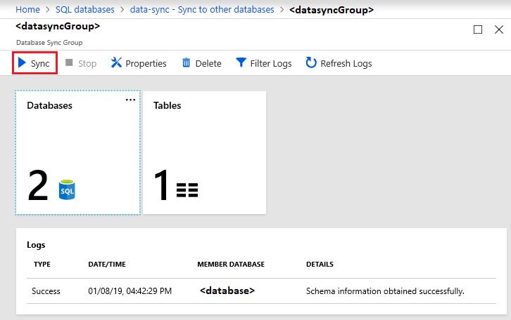 Configurar Sincronização de Dados SQL do Azure | Microsoft Docs