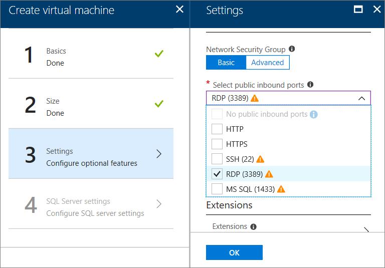 Criar uma vm do windows do sql server no portal - Porta sql server ...