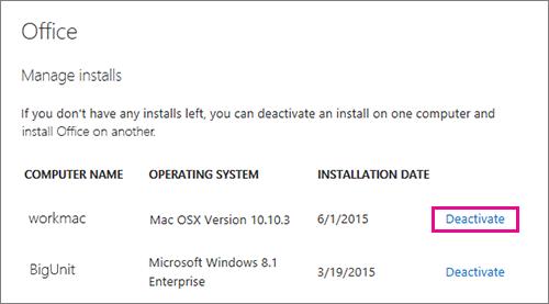 Viso geral da ativao para 2016 do office para mac microsoft docs escolha a opo desativar ao lado da instalao que voc no precisa ccuart Gallery