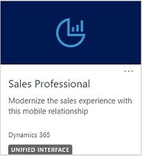 Bloco para Dynamics 365 Sales Professional
