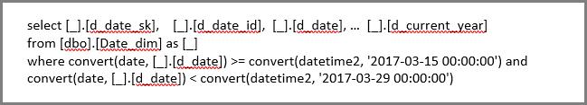 Filtrar as linhas na consulta SQL nativa