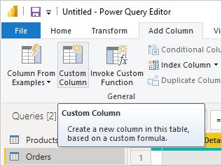 Como adicionar uma coluna personalizada