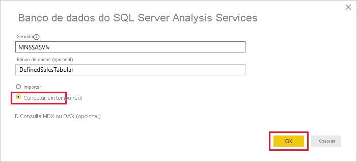 Detalhes do Analysis Services
