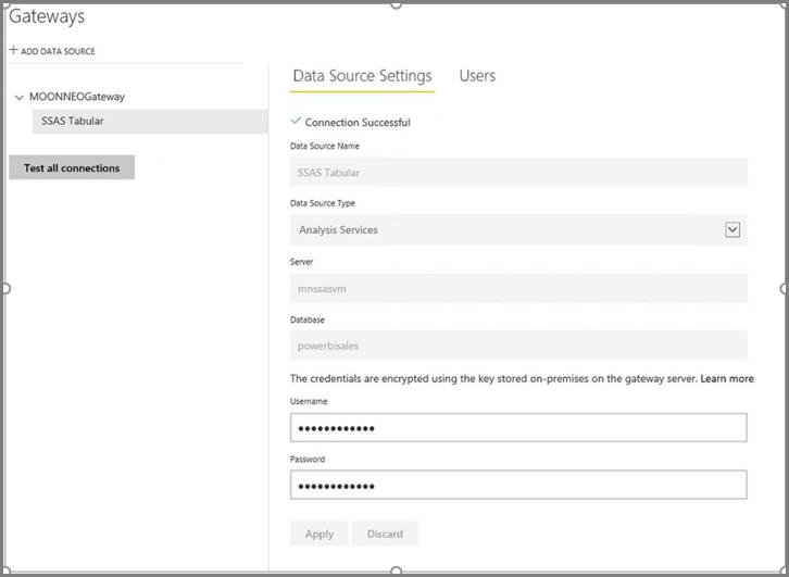 Criar conexão de fonte de dados