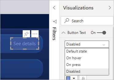 Personalizar a formatação do botão desabilitado