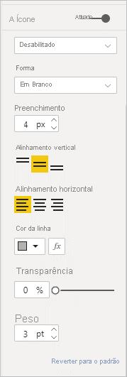 Ícones do botão desabilitado
