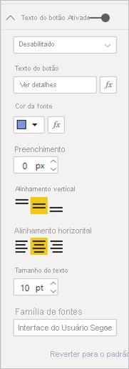 Formatar texto do botão desabilitado